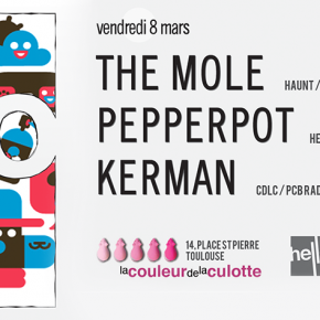 Hello with : The Mole / Pepperpot / KermAn - Vendredi 8 mars 2013