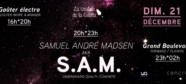 Dimanche 21 Décembre - Goûter Electronique - S.A.M